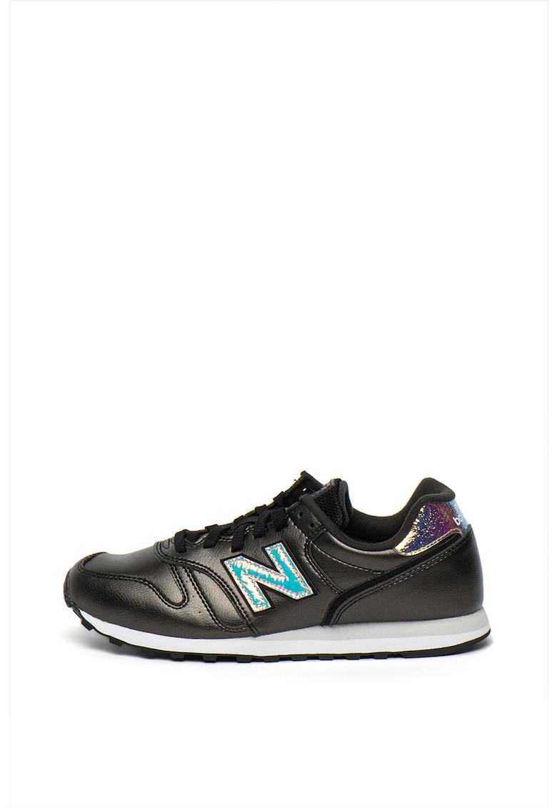 Pantofi sport de piele ecologica - cu detalii holografice 373
