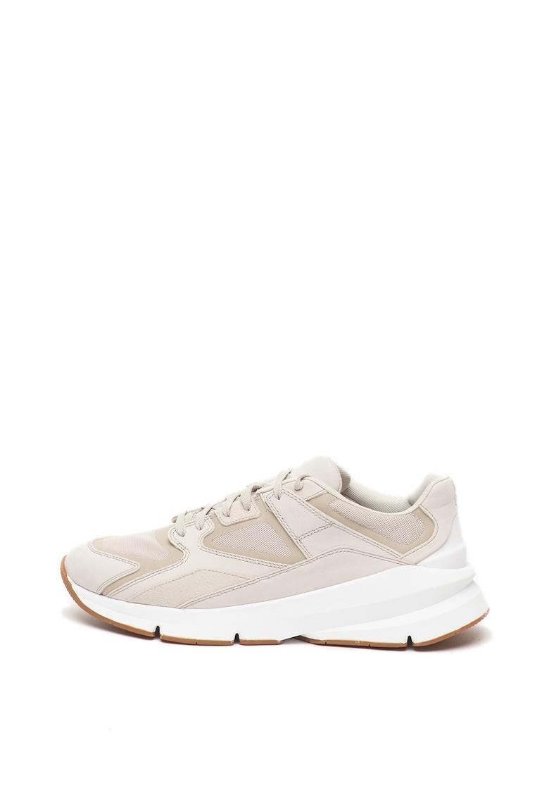 Pantofi sport cu insertii de piele nabuc Forge 98