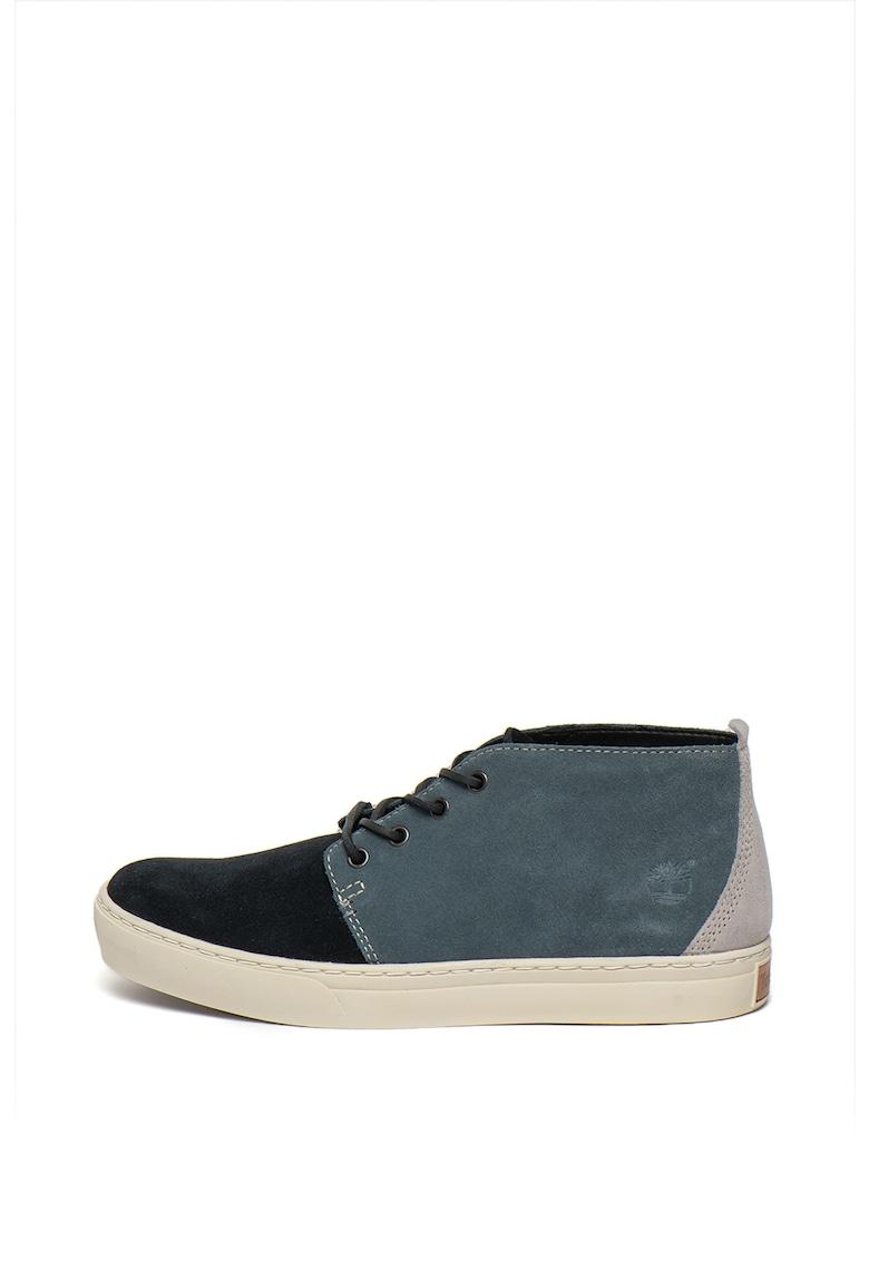 Pantofi sport tip ghete chukka de piele intoarsa - cu segmente contrastante Adventure
