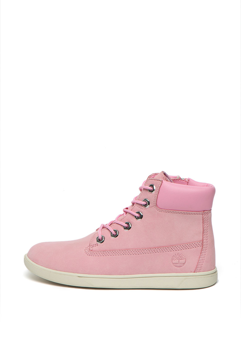Pantofi sport mid-high de piele nabuc Groveton 6 In - Roz image0