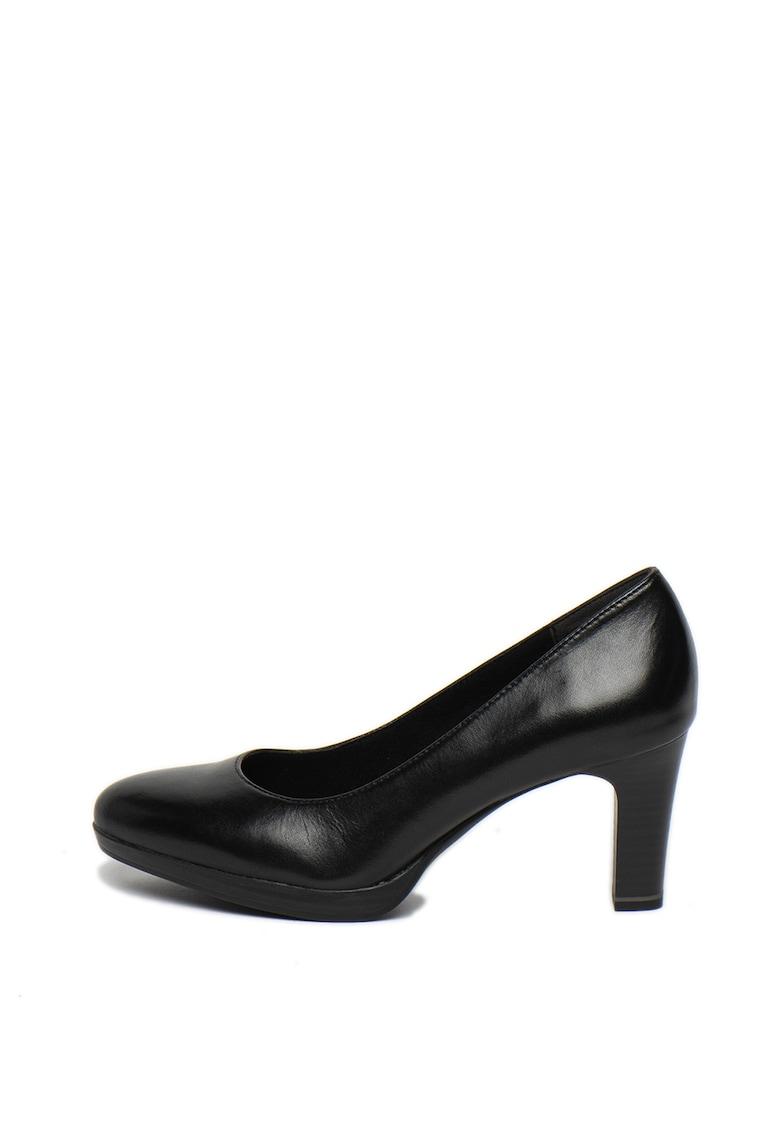 Pantofi de piele cu varf migdalat