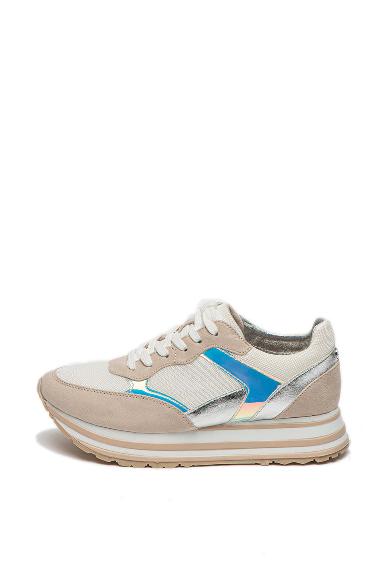 Pantofi sport flatform cu garnituri stralucitoare