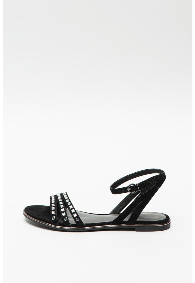 Sandale de piele intoarsa ecologica cu aplicatii de nituri imagine