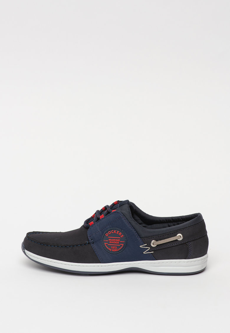 Pantofi casual de piele nabuc si material textil Laci fashiondays.ro