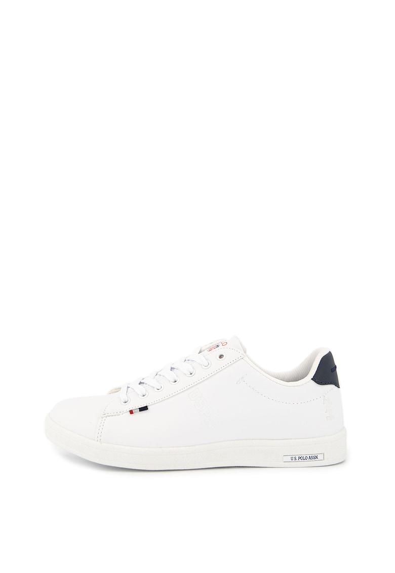 Pantofi sport din piele ecologica cu talpa joasa Franco