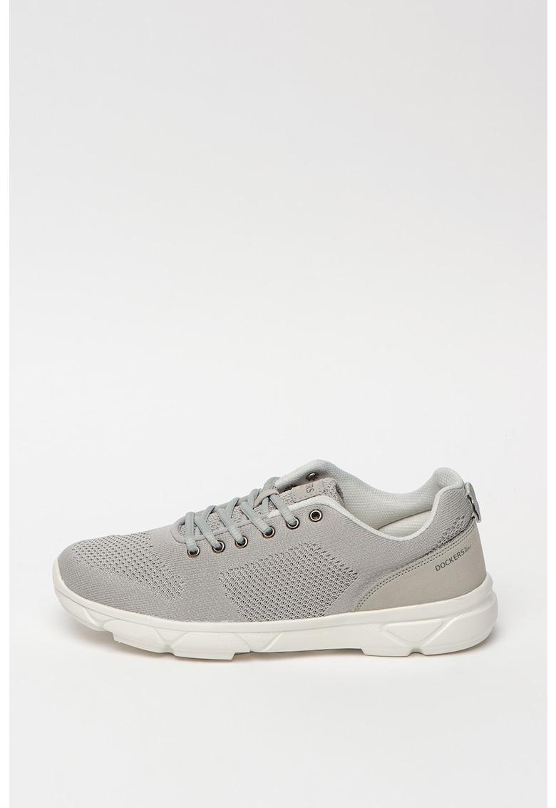 Pantofi sport de piele ecologica - cu garnituri de piele intoarsa ecologica Alen 3