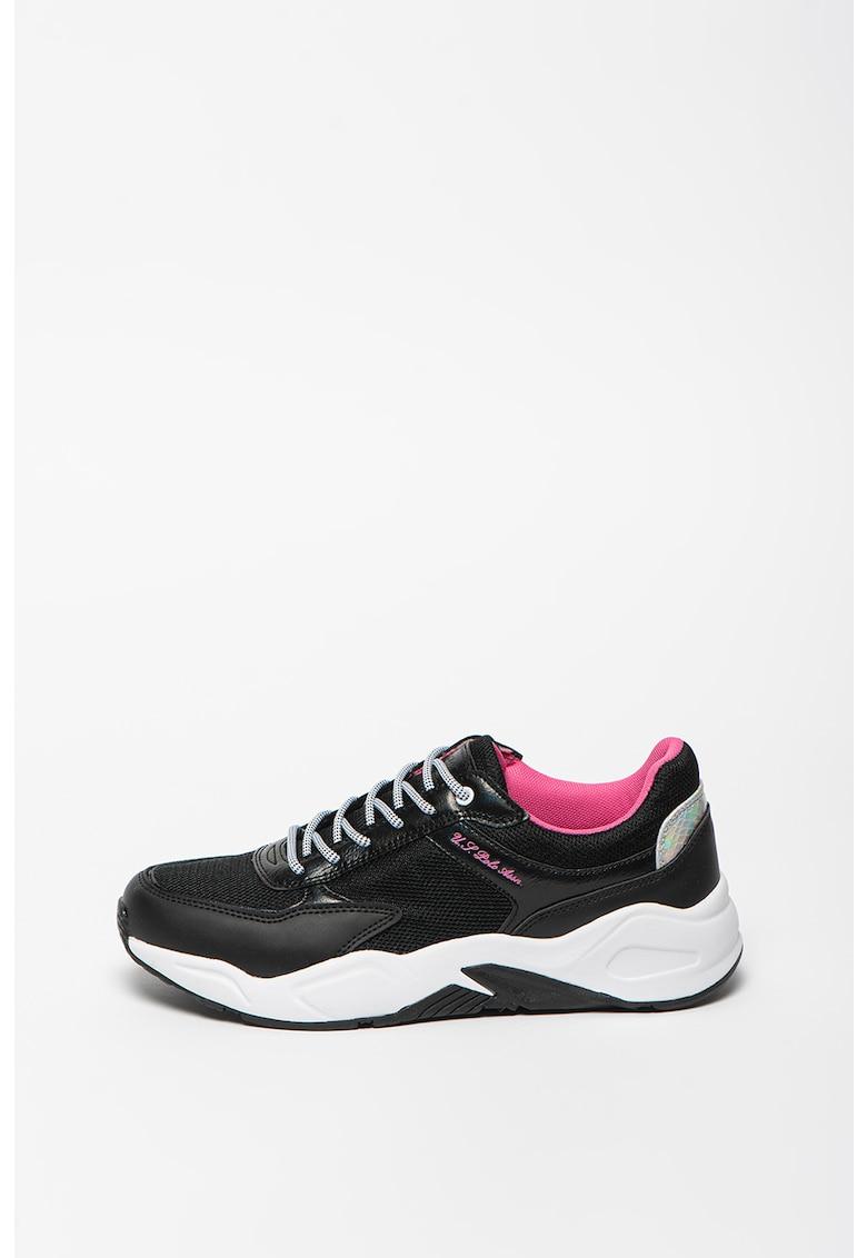 Pantofi sport cu insertii de piele ecologica Elly