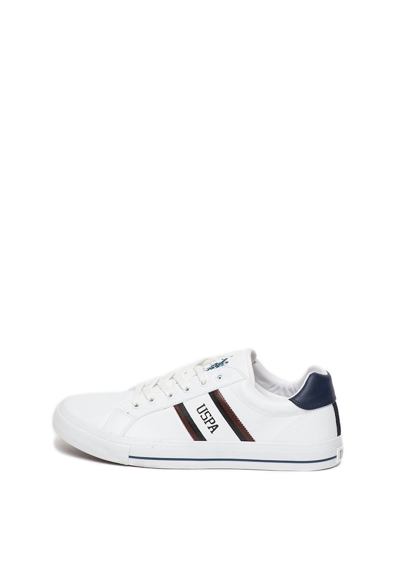 Pantofi sport de piele ecologica cu talpa joasa Pure