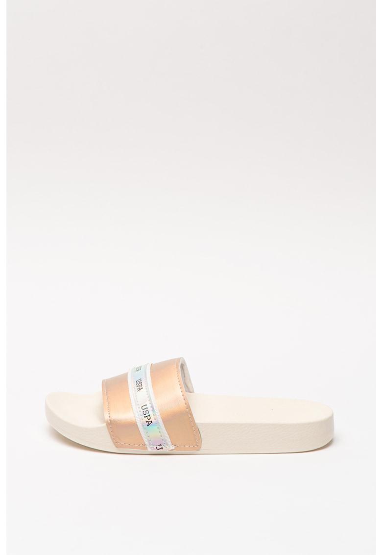 Papuci cu aspect metalizat Neat