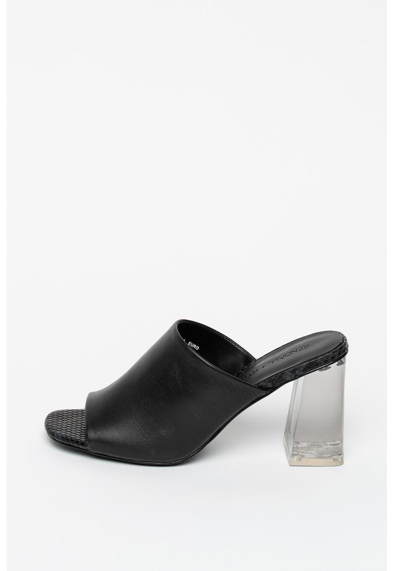 Papuci din piele cu toc Cali