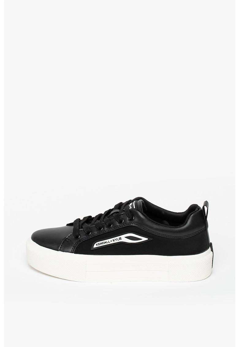 Pantofi sport din piele ecologica cu detaliu logo Towny