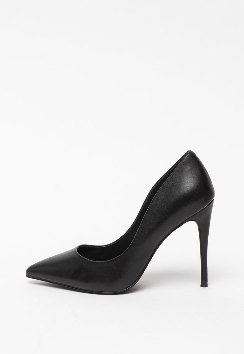 Pantofi stiletto de piele cu varf ascutit Daisie