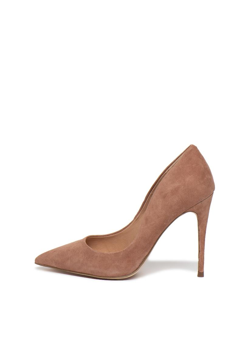Pantofi de piele intoarsa cu varf ascutit Daisie