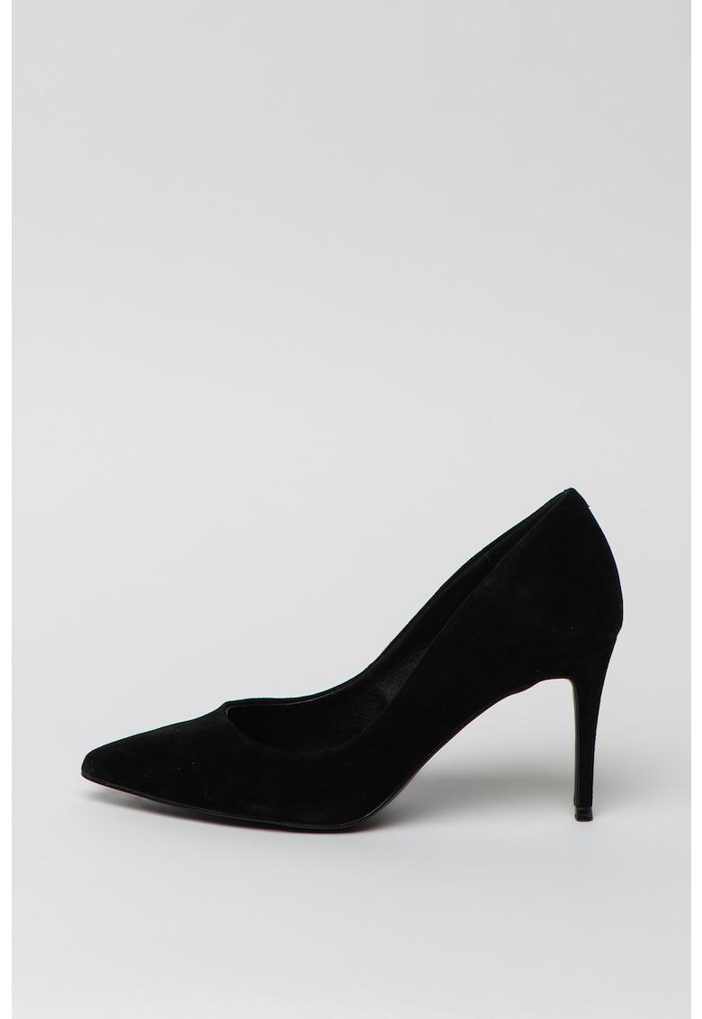Pantofi de piele intoarsa cu varf ascutit Lillie