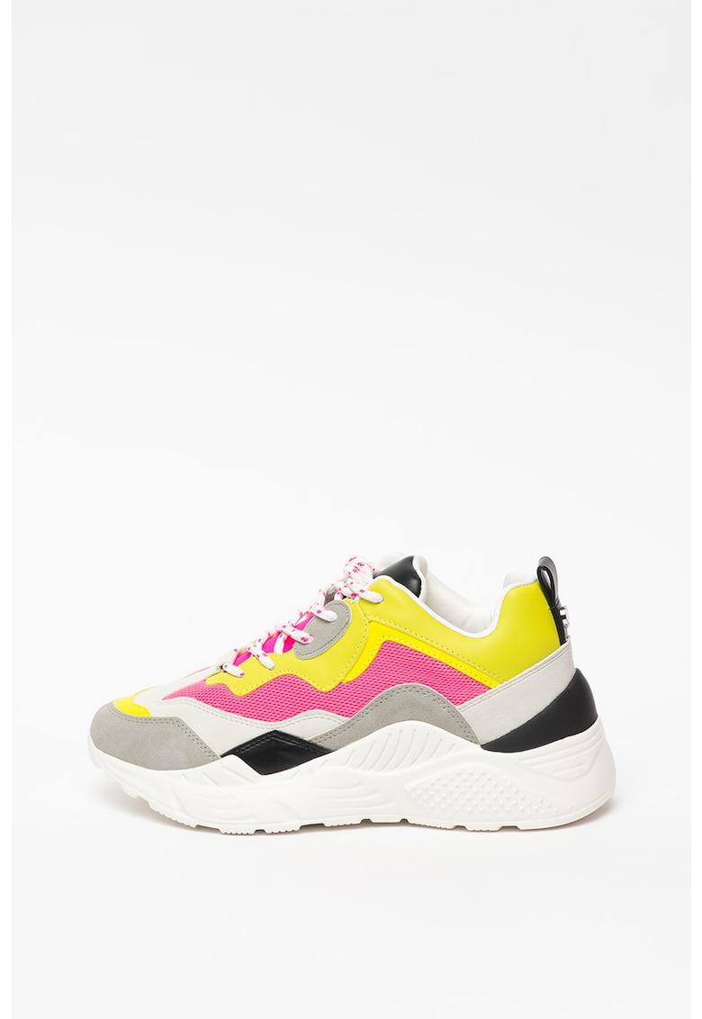 Pantofi sport cu model colorblock si aspect masiv Antonia