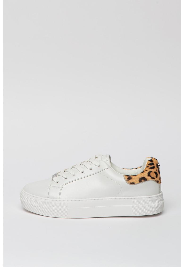 Pantofi sport de piele ecologica cu detalii animal print Merger