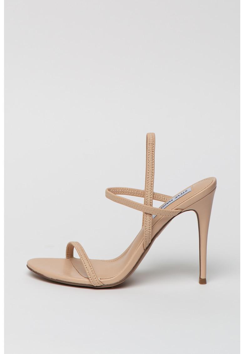 Sandale de piele ecologica cu barete multiple Gabriella
