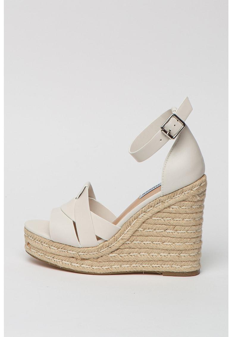 Sandale wedge tip espadrile de piele Sivian