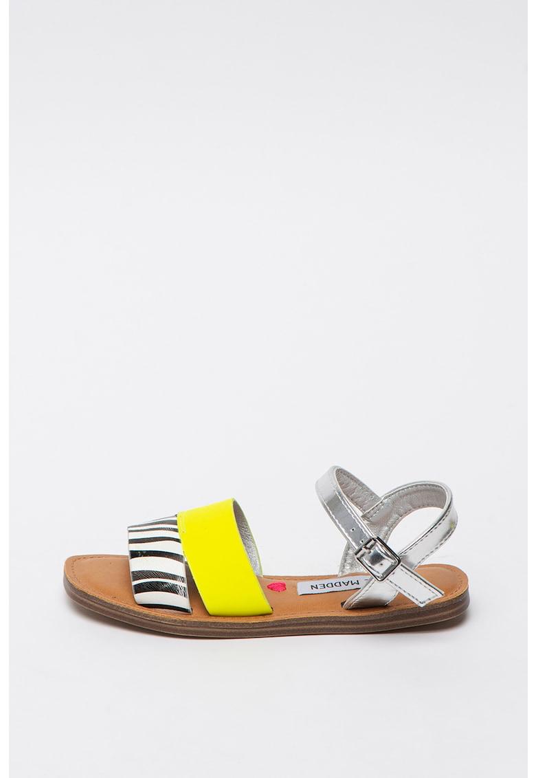 Sandale slingback din piele ecologica Jalexndr