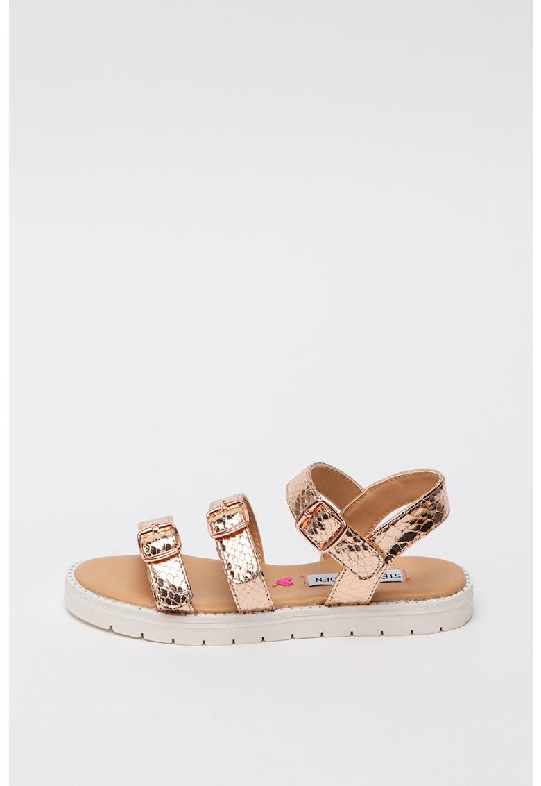Sandale din piele ecologica cu aspect metalizat Jtrillz Steve Madden fashiondays.ro