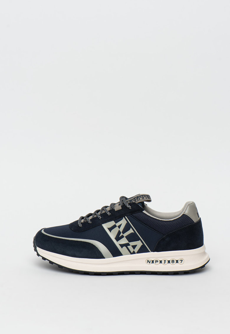 Pantofi sport cu insertii de piele intoarsa Slate