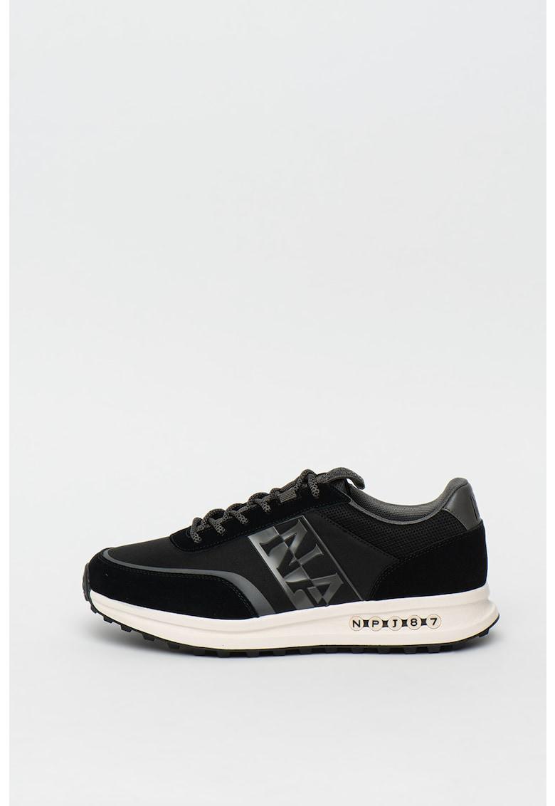 Pantofi sport cu insertii de piele intoarsa Slate imagine