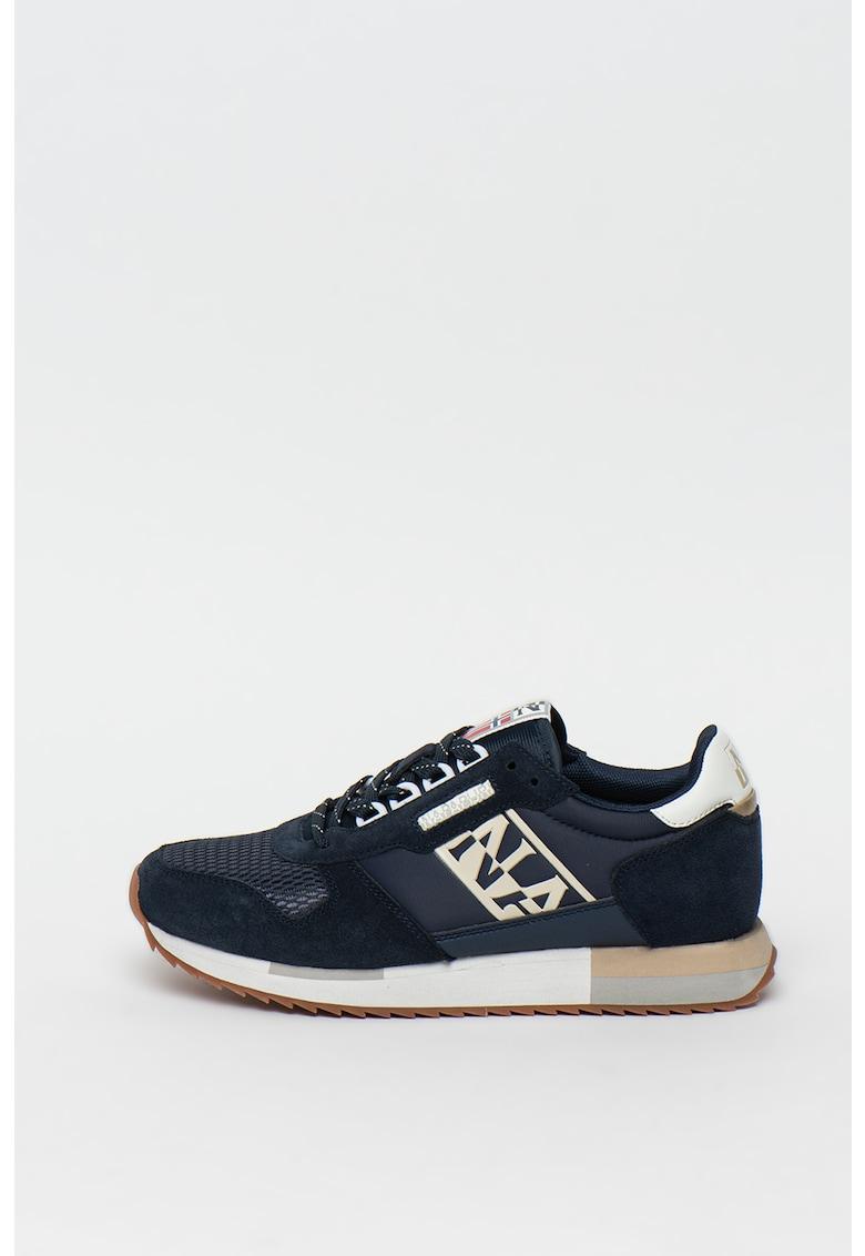 Pantofi sport cu insertii din piele intoarsa Vicky