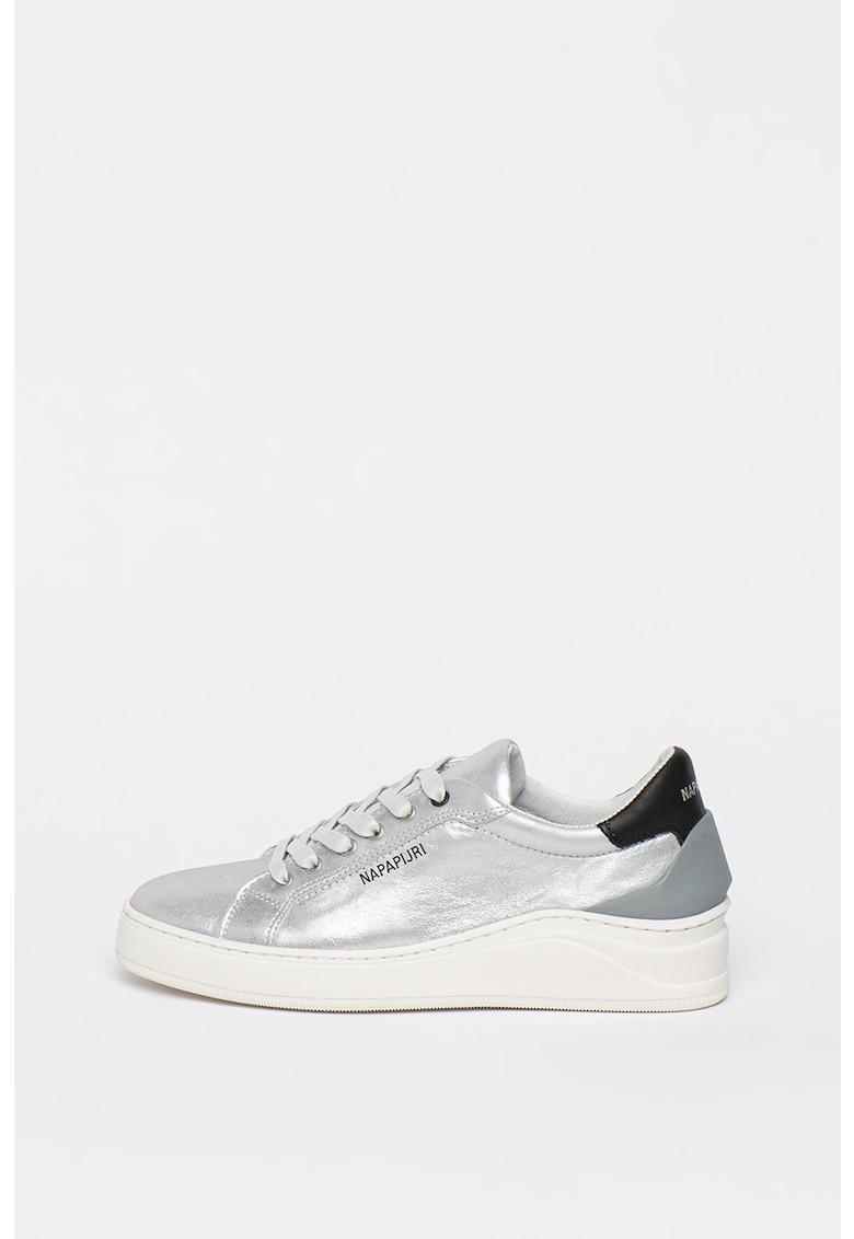 Pantofi sport din piele cu aspect metalizat Dewo