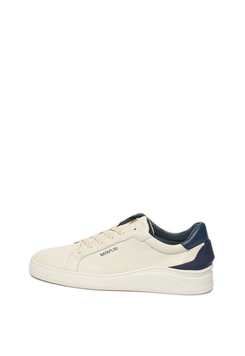 Pantofi sport de piele cu detaliu contrastant