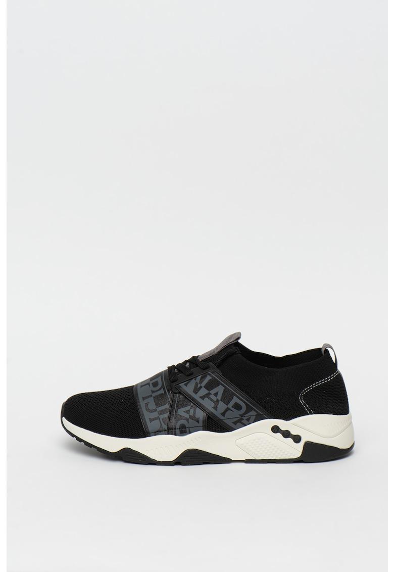 Pantofi sport slip-on cu benzi elastice cu logo Lake