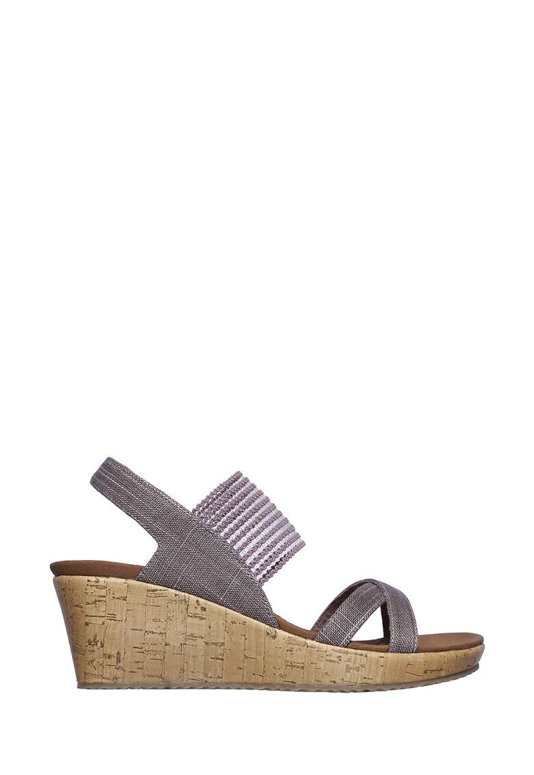 Skechers Sandale din material textil cu talpa wedge Beverlee-High Tea