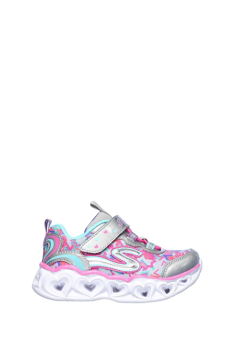 Pantofi sport slip-on cu talpa cu iluminare Heart Lights de la Skechers