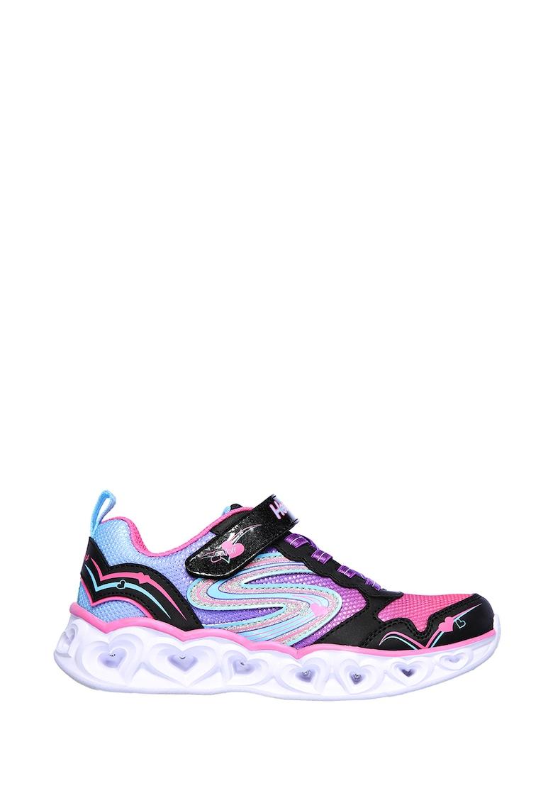 Pantofi sport slip-on cu talpa cu iluminare Heart Lights-Love Spark imagine