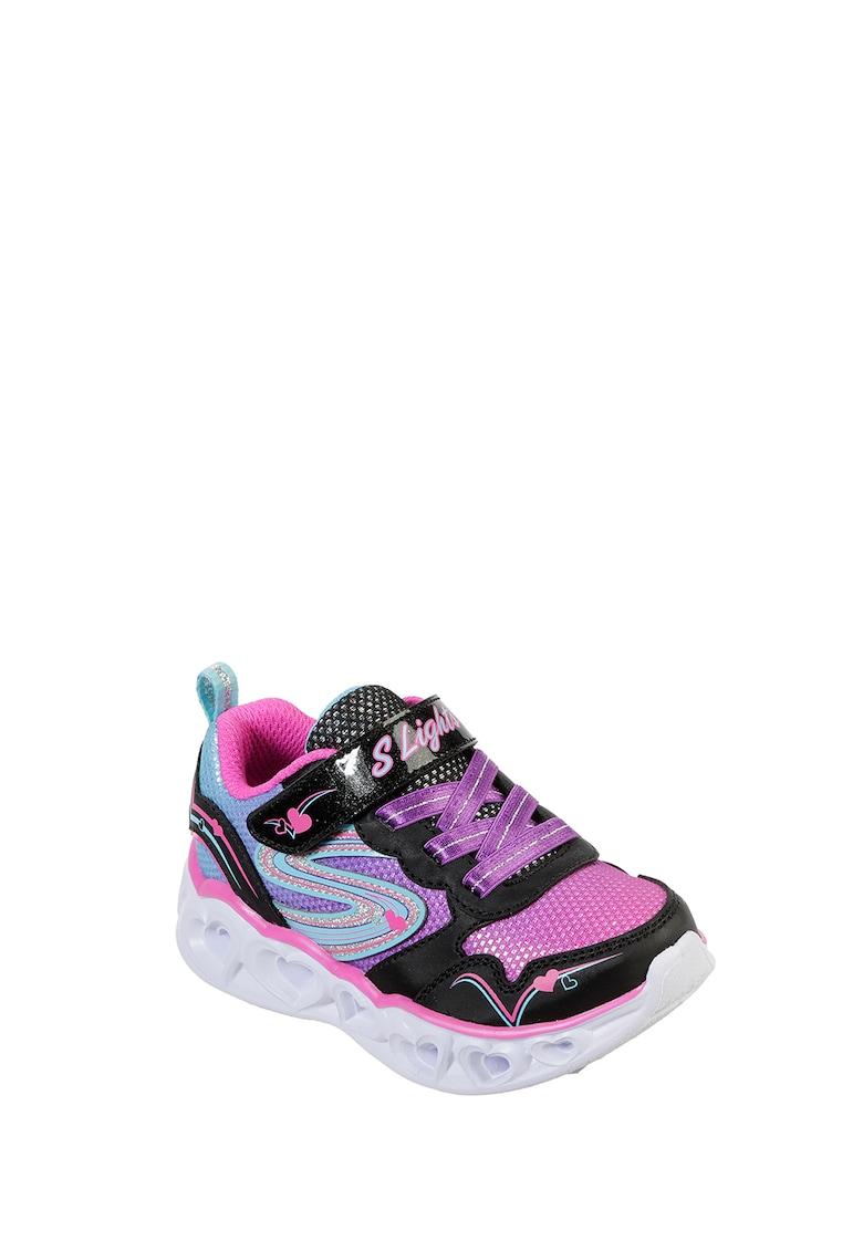 Pantofi sport slip-on cu talpa cu iluminare Heart Lights-Love Spark Skechers fashiondays.ro