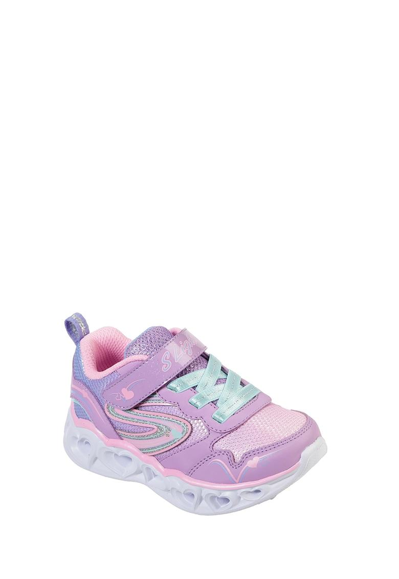 Pantofi sport slip-on cu talpa cu iluminare Heart Lights-Love Spark