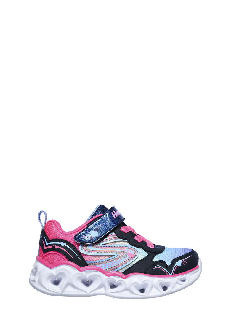 Pantofi sport slip-on cu talpa cu iluminare Heart Lights-Love Sparks imagine