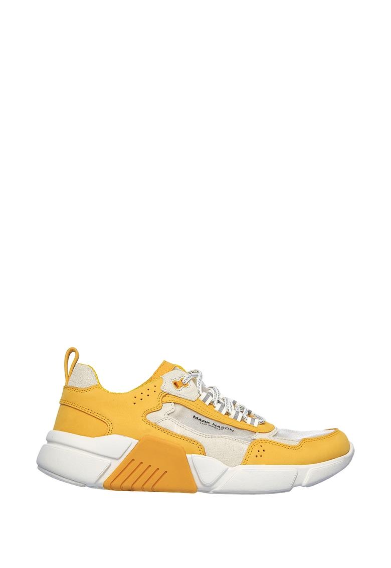 Pantofi sport de piele intoarsa si piele nabuc Block West 1