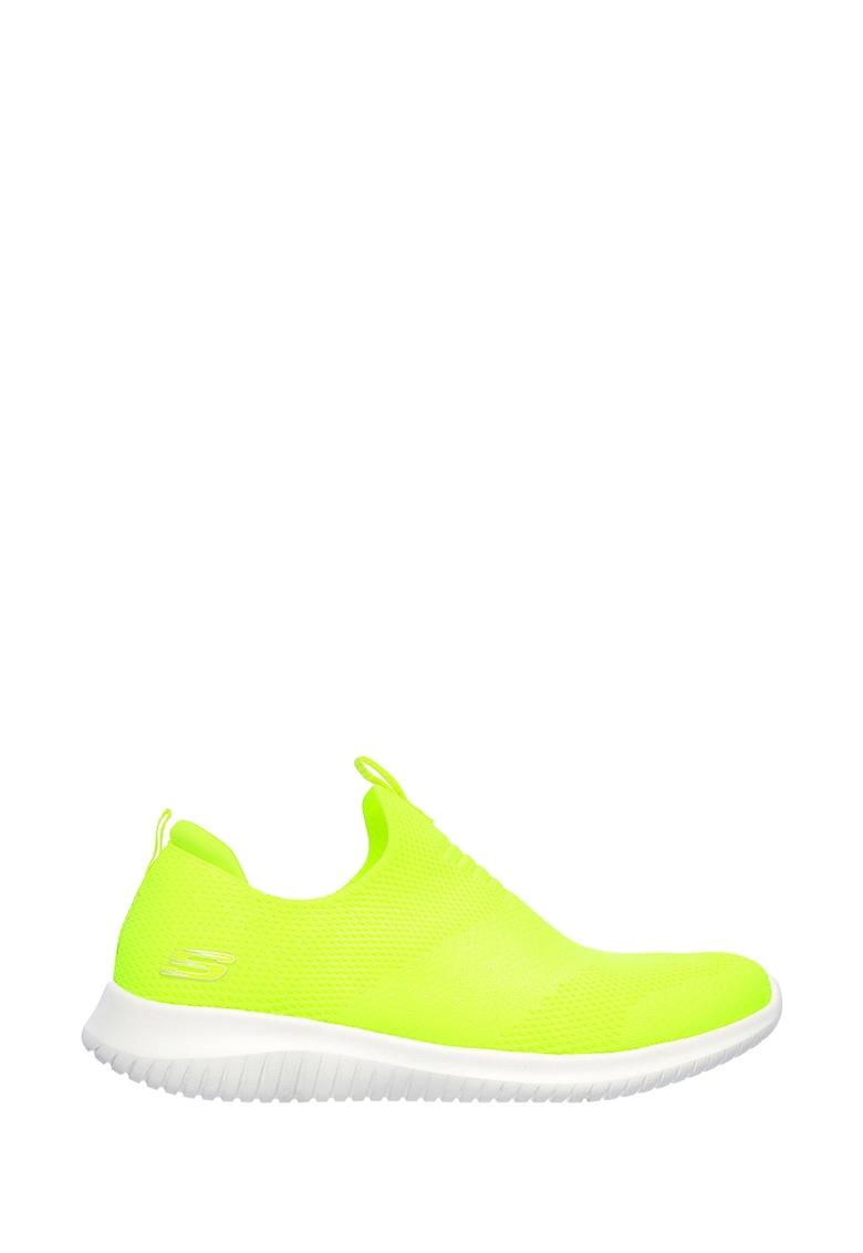 Pantofi sport slip-on tricotati Ultra Flex - Candy Cravings imagine