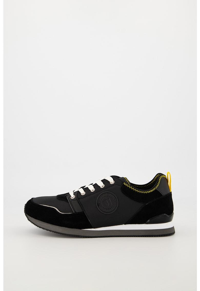 Pantofi sport din piele intoarsa si material textil 1