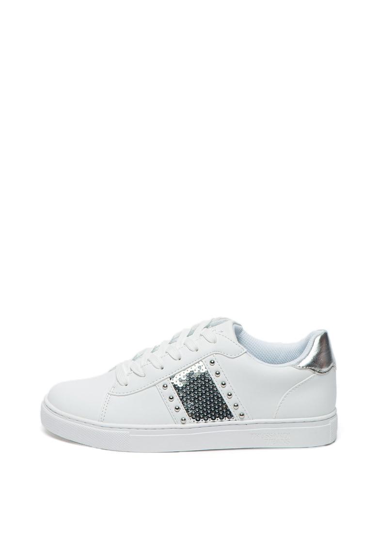 Pantofi sport cu aplicatii de nituri si paiete