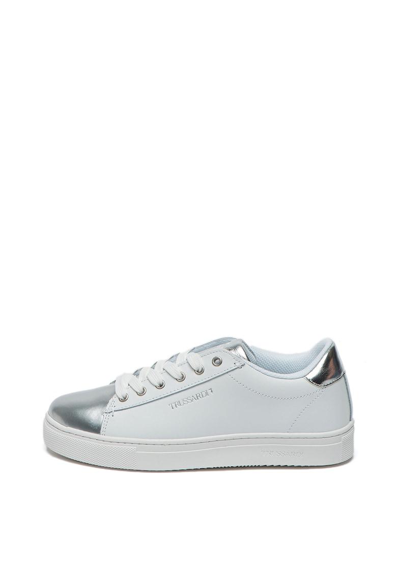 Pantofi sport din piele cu accente stralucitoare