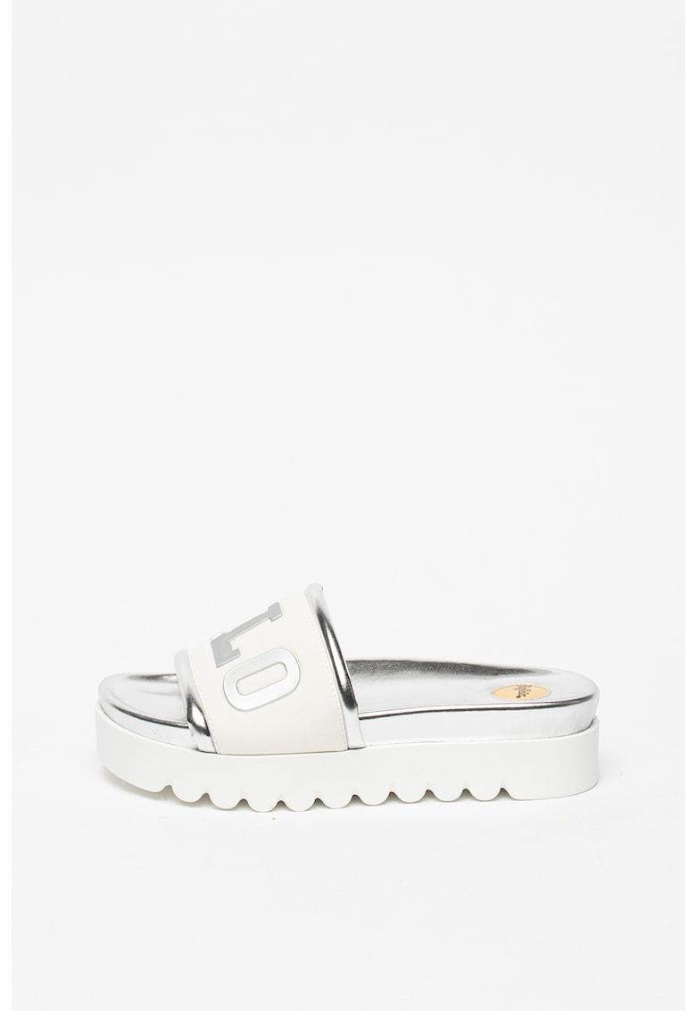 Papuci flatform cu model logo Edona imagine fashiondays.ro 2021