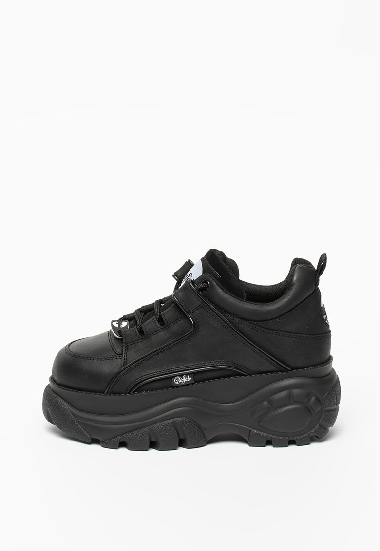 Pantofi sport de piele cu garnitura de piele intoarsa
