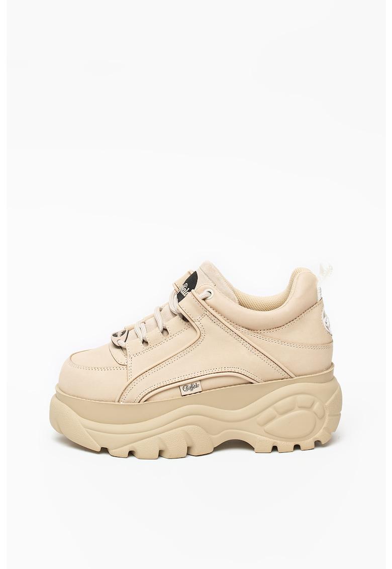 Pantofi sport wedge de piele nabuc 1339-14 2.0