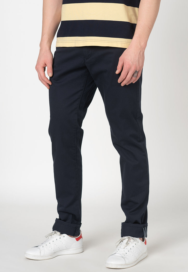 Pantaloni chino slim fit din amestec de bumbac organic