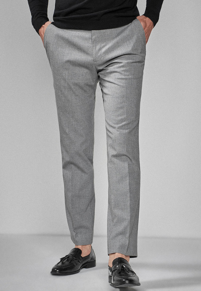 Pantaloni slim fit cu model texturat thumbnail