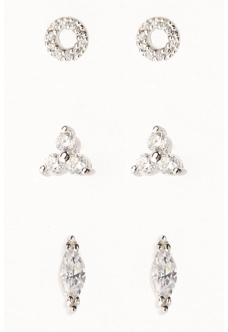 Set de cercei din argint veritabil - 3 piese thumbnail