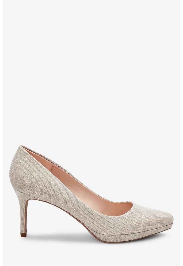 Pantofi stralucitori cu varf migdalat imagine