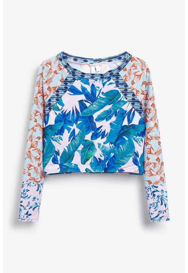 Top crop cu imprimeu floral imagine fashiondays.ro
