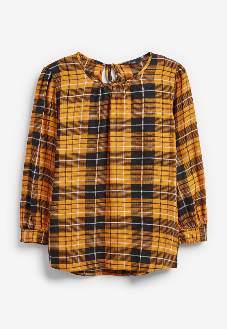 Bluza in carouri cu decupaj pe partea din spate